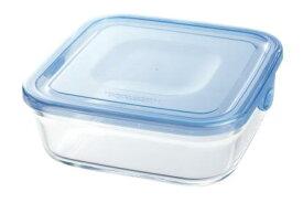 【メーカー公式】作り置きにぴったり iwaki(イワキ) NEWパック&レンジ(アクアブルー) 【容量】800ml耐熱ガラス ガラス 保存容器 常備菜 つくおき 作り置き 浅い もちより