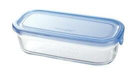 【メーカー公式】作り置きにぴったり iwaki(イワキ) NEWパック&レンジ(アクアブルー) 【容量】500ml耐熱ガラス ガラス 保存容器 常備菜 つくおき 作り置き 浅い もちより