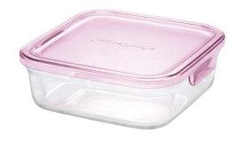【メーカー公式】作り置きにぴったり iwaki(イワキ) パック&レンジ(ピンク) 【容量】800ml耐熱ガラス ガラス 保存容器 常備菜 つくおき 作り置き 浅い もちより