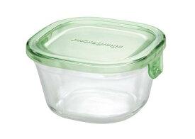 【メーカー公式】作り置きにぴったり iwaki(イワキ) パック&レンジ(グリーン) 【容量】200ml耐熱ガラス ガラス 保存容器 常備菜 つくおき 作り置き 浅い もちより