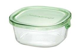 【メーカー公式】作り置きにぴったり iwaki(イワキ) パック&レンジ(グリーン) 【容量】450ml耐熱ガラス ガラス 保存容器 常備菜 つくおき 作り置き 浅い もちより