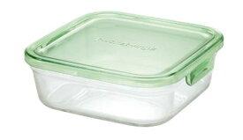 【メーカー公式】作り置きにぴったり iwaki(イワキ) パック&レンジ(グリーン) 【容量】800ml耐熱ガラス ガラス 保存容器 常備菜 つくおき 作り置き 浅い もちより