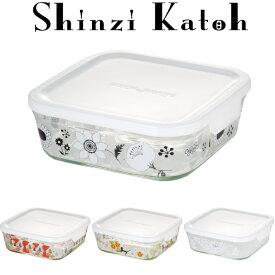 【メーカー公式】Shinzi Katoh iwaki(イワキ) パック&レンジ800ml(ホワイト) シンジカトウ  作り置きにぴったり  【容量】800ml耐熱ガラス ガラス 保存容器 常備菜