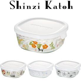 【メーカー公式】Shinzi Katoh  iwaki(イワキ) パック&レンジ450ml(ホワイト) シンジカトウ  作り置きにぴったり  【容量】450ml耐熱ガラス ガラス 保存容器