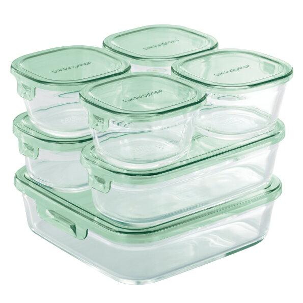 【送料無料】【34%OFF】iwaki 保存容器 パック&レンジ 7点セット 耐熱ガラス ガラス おしゃれ インスタ映え 安い