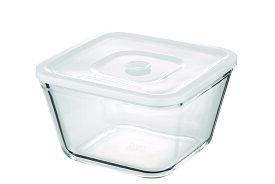 【NEW】簡単密閉 iwaki(イワキ) 密閉パック&レンジ(ホワイト) 【容量】1500ml 耐熱ガラス ガラス 保存容器 白 常備菜 つくおき 作り置き 作り置きにぴったり もちより 電子レンジOK オーブン