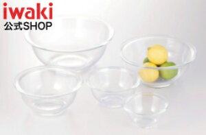 iwaki イワキ 耐熱ガラスボウル5点セット 料理 パーティー オーブン 皿 焼き レンジ 耐熱ガラス かわいい おしゃれ フタとセットで保存容器に