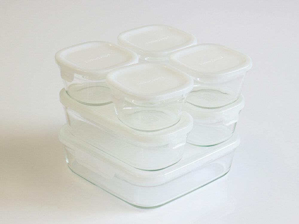 【24%OFF】iwaki 保存容器 ホワイト7点 セット 少し透け感のある白です パック&レンジ イワキ 冷凍 からフタを取って オーブン まで 対応 人気 おしゃれ 安い かわいい