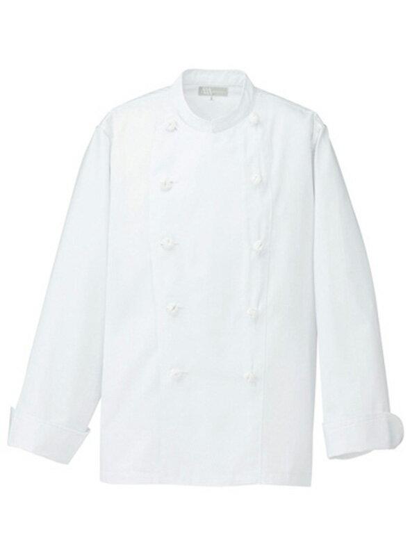 コックコート長袖 綿/ポリ【男女兼用】 A101 ポリ65%綿35% 洗濯性が良く シワになりにくい コック服 厨房服 ユニフォーム 飲食 激安