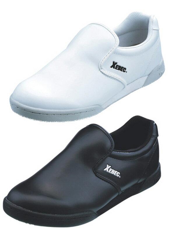 85661 XEBEC(ジーベック) コックシューズ 厨房シューズ 滑りにくい 軽い 02-85661 黒 ブラック 軽量 安全靴 立ち仕事 疲れない 靴 スニーカー 疲れにくい 作業靴 厨房靴 くつ クツ 厨房用 キッチン用 業務用 調理靴