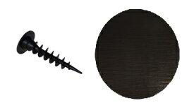 グリーンフィールド ガンコピン 150MM ブラックパッチ 50イリ  P−GA150−PBL50