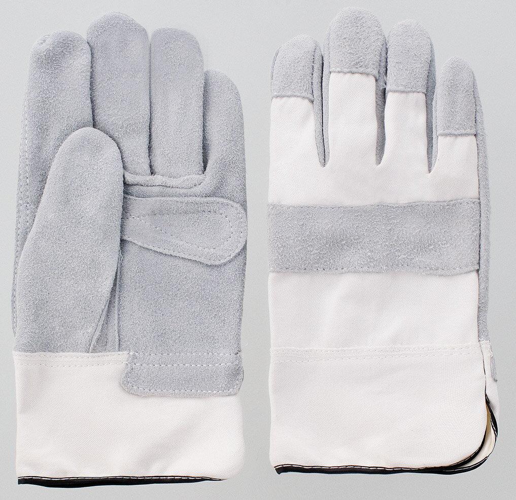富士グローブ 皮手袋 船具用 白中厚 10双セット フリー 1501