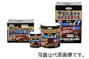 アサヒペン 油性高耐久アクリルトタンα 12KG グレー ※お取り寄せ商品です※