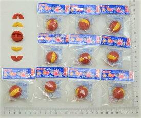 バスケットボール消しゴム(10個入) 【まとめ買い 消しゴム 日本製 プレゼント ご褒美 おまけ 景品 おもちゃ こども 文具 ばらまき】