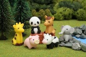 どうぶつえん 消しゴム (60個入)【まとめ買い シリーズ 消しゴム 日本製 プレゼント ご褒美 おまけ 景品 おもちゃ こども 文具 ばらまき】