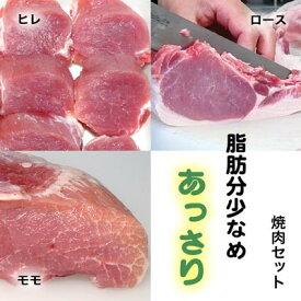 やまざきポーク ヒレ ロース モモ 焼肉 バーベキューセット 自家製タレ付属 青森県産 900g 焼肉セット BBQセット