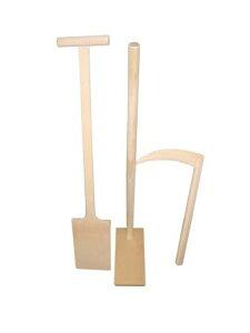 鋤、鍬、鎌3点セット(木曽ヒノキ)