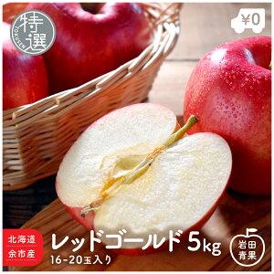北海道 余市産 特選 レッドゴールド 5kg 16〜20玉前後 りんご リンゴ 林檎 つがるりんご 津軽林檎 津軽リンゴ つがる 北海道産 国産 果物 お取り寄せ 旬の果物 くだもの 旬 フルーツ 詰め合わせ