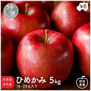 北海道余市産 特選 ひめかみ 5kg 16〜20玉入 りんご リンゴ 林檎 国産 北海道 北海道産 余市 ヒメカミ 旬 果物 旬 フルーツ ご当地 お取り寄せ プレゼント 贈り物 贈物 訳あり ではありません 贈