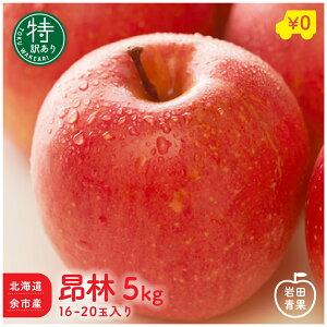 北海道余市産 訳あり 特 昂林 5kg 16〜20玉入 りんご リンゴ 林檎 国産 北海道 北海道産 余市 こうりん 旬 果物 旬 フルーツ ご当地 お取り寄せ プレゼント 贈り物 贈物 送料無料
