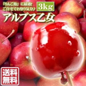 アルプス乙女 3kg りんご飴 リンゴ飴 青森県産 北海道 余市 フルーツ 果物 訳あり じゃありません! お取り寄せ グルメ お中元 御中元 ギフト 贈り物 くだもの 北海道産 農家直送 プレゼント
