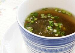 国産とろろ昆布とかつお節の海藻スープ