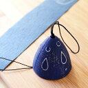 【岩鋳】南部鉄器 風鈴(夕立) カラー風鈴・ブルー/紺色 おしゃれ 可愛い 水玉 モダン