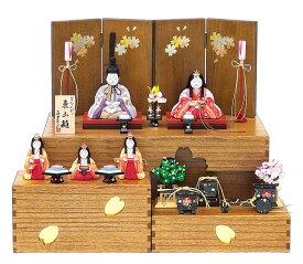 雛人形 木目込み人形 真多呂作 2021年新作東山雛5人飾り B 段飾り