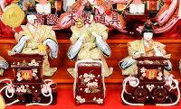 雛人形ケース飾りコンパクト【L】ひな人形親王三人官女五人囃子初節句十人飾り六面アクリルケースお雛様