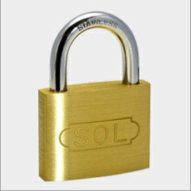 【 メール便 可 】 SOL HARD シリンダー南京錠 ステンロック No.2500 30mm 同一鍵定番