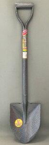福農産業 8-8 パイプ柄ショベル 丸型 ギザ刃付 ハンマートーン仕上げ GS503 (剣スコップ)