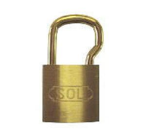 【12個】 SOL HARD シリンダー南京錠 ツル長 No.2500 25mm 同一鍵定番