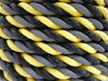 【送料無料】光るロープ/標識ロープ高反射ロープ12mm×100m(トラロープ・タイガーロープ)【1巻】【メーカー直送品代引不可】
