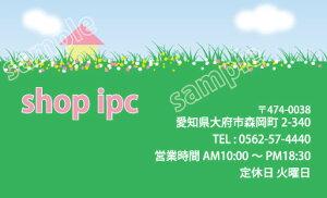 ショップカード sk008【片面/100枚】ショップ カード 作成 印刷 カラー