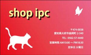 ショップカードsk013【片面/100枚】ショップ カード 作成 印刷 カラー