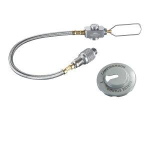 【 送料無料 】 シングルバーナー用 マルチガスホースライン 25cm ねじ込み式 OD缶 CB缶 ガス変換 (マルチホースライン単品) Z21-25