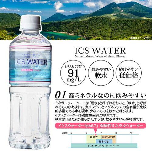 シリカ含有量91mg/L軟水で飲みやすい高ミネラル水