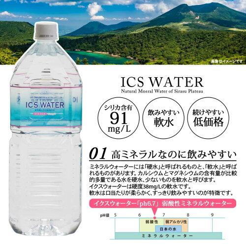 シリカ水91mg/Lイクスウォーター2Lペットボトル6本ミネラルウォーターケイ素九州全国送料無料