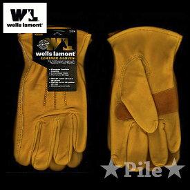 バイク グローブ 革 手袋 革手袋 バイクグローブ WELLS LAMONT レザーグローブ バイク手袋 冬 ツーリング に 1組セット 濡れても柔らか