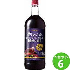 サッポロビ−ル ポリフェノールでおいしさアップの赤ワイン10種の果実 赤ワイン 1500ml×6本 ワイン【送料無料※一部地域は除く】