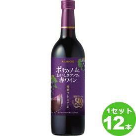 サッポロ ポリフェノールでおいしさアップの赤ワイン<特濃プレミアム> 赤ワイン 720ml×12本 ワイン【送料無料※一部地域は除く】