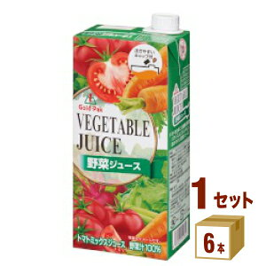 ゴールドパック 野菜ジュース 紙パック 1000ml×6本×1ケース (6本) 飲料【送料無料※一部地域は除く】