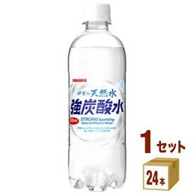 日本サンガリア 伊賀の天然水 強炭酸水 500ml×24本×1ケース (24本) 飲料【送料無料※一部地域は除く】