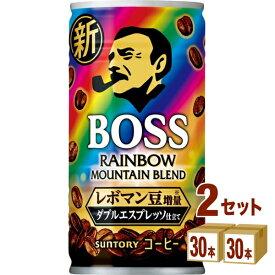 【2CS】BOSS サントリー コーヒー ボス レインボーマウンテンブレンド 185g×60本 サントリーボス飲料サントリーフーズ 飲料【送料無料※一部地域は除く】