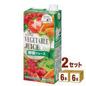 ゴールドパック 野菜ジュース 紙パック 1000ml×6本×2ケース (12本) 飲料【送料無料※一部地域は除く】