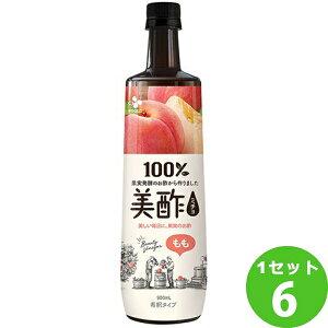 CJフーズジャパン プティチェル美酢ミチョももペット 900ml×6本 飲料【送料無料※一部地域は除く】