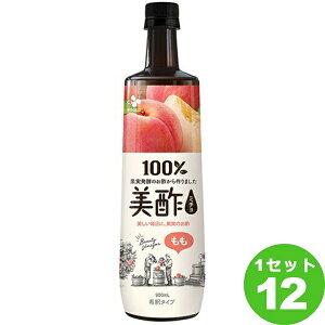 CJフーズジャパン プティチェル美酢ミチョももペット 900ml×12本 飲料【送料無料※一部地域は除く】