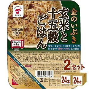 たいまつ食品 金のいぶき玄米と十五穀 160g×24パック×2ケース (48パック) 食品【送料無料※一部地域は除く】