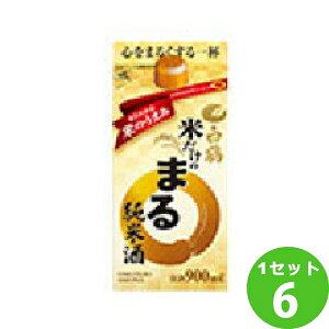 白鶴酒造(兵庫) 米だけのまる純米酒パック 900 ml×6本 日本酒【送料無料※一部地域は除く】