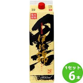 大口酒造(鹿児島) 芋焼酎黒伊佐錦25゜パック 1800ml×6本 焼酎【送料無料※一部地域は除く】